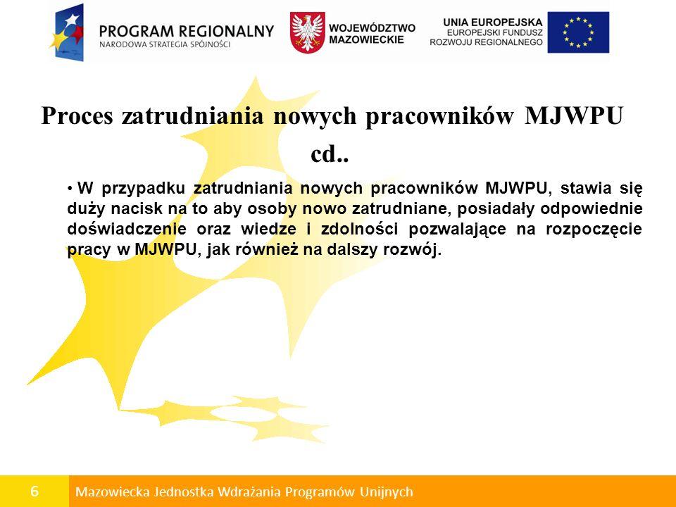 Proces zatrudniania nowych pracowników MJWPU cd..