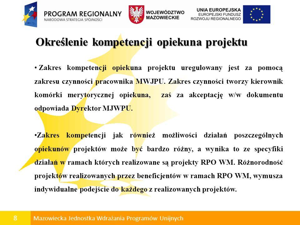 Określenie kompetencji opiekuna projektu