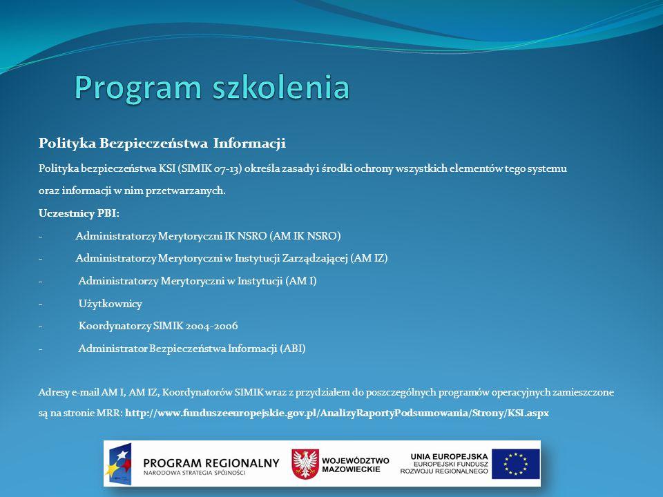 Program szkolenia Polityka Bezpieczeństwa Informacji