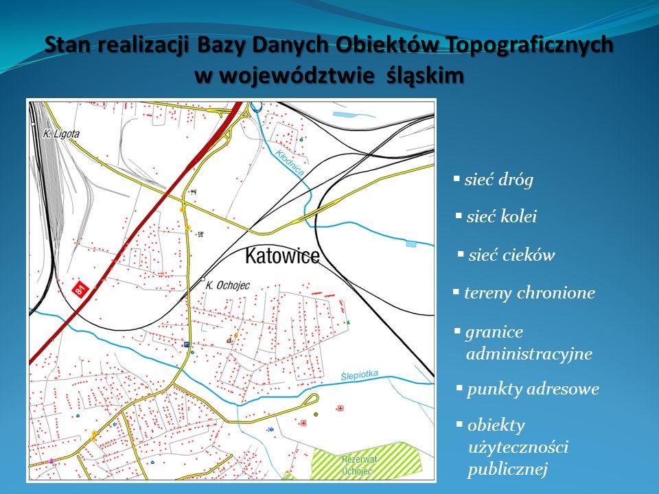 Stan realizacji Bazy Danych Obiektów Topograficznych w województwie śląskim
