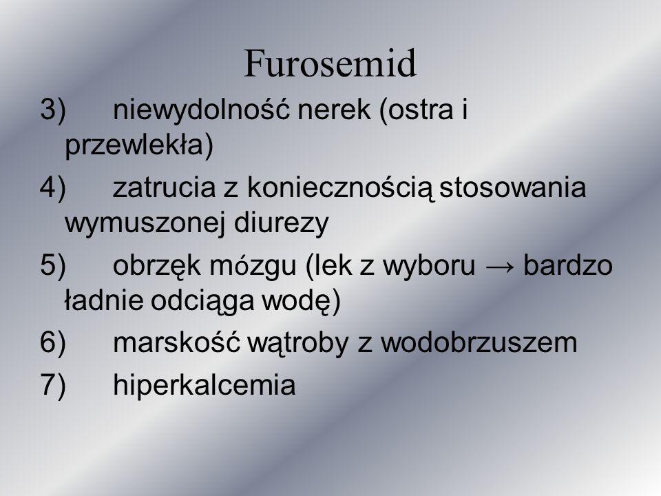Furosemid 3) niewydolność nerek (ostra i przewlekła)