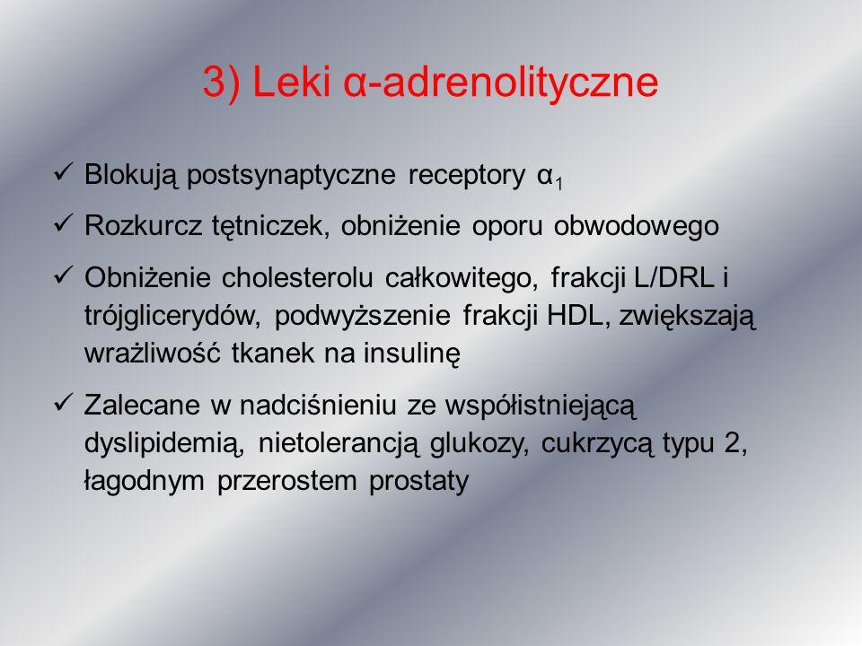 3) Leki α-adrenolityczne