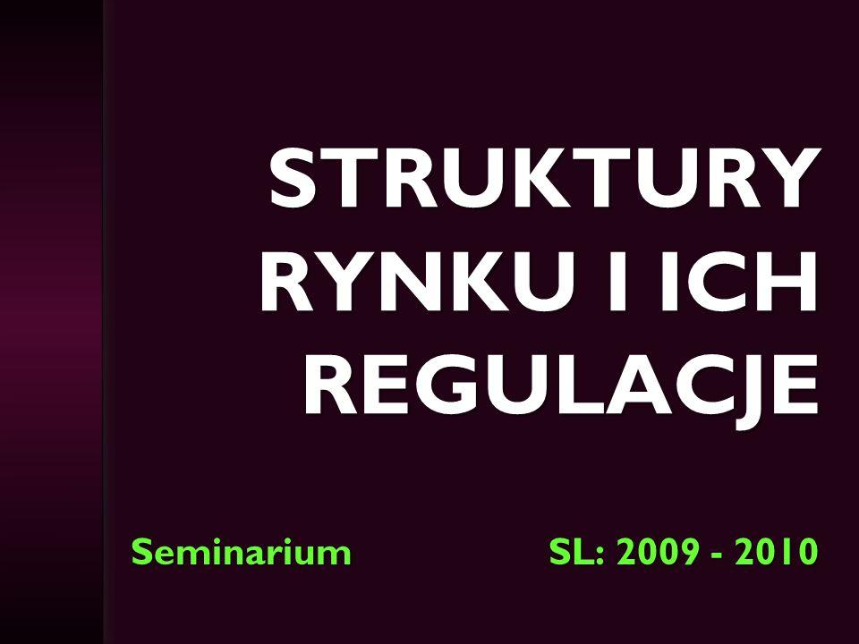 Struktury rynku i ich regulacje