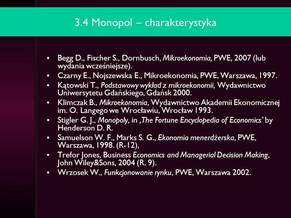 3.4 Monopol – charakterystyka