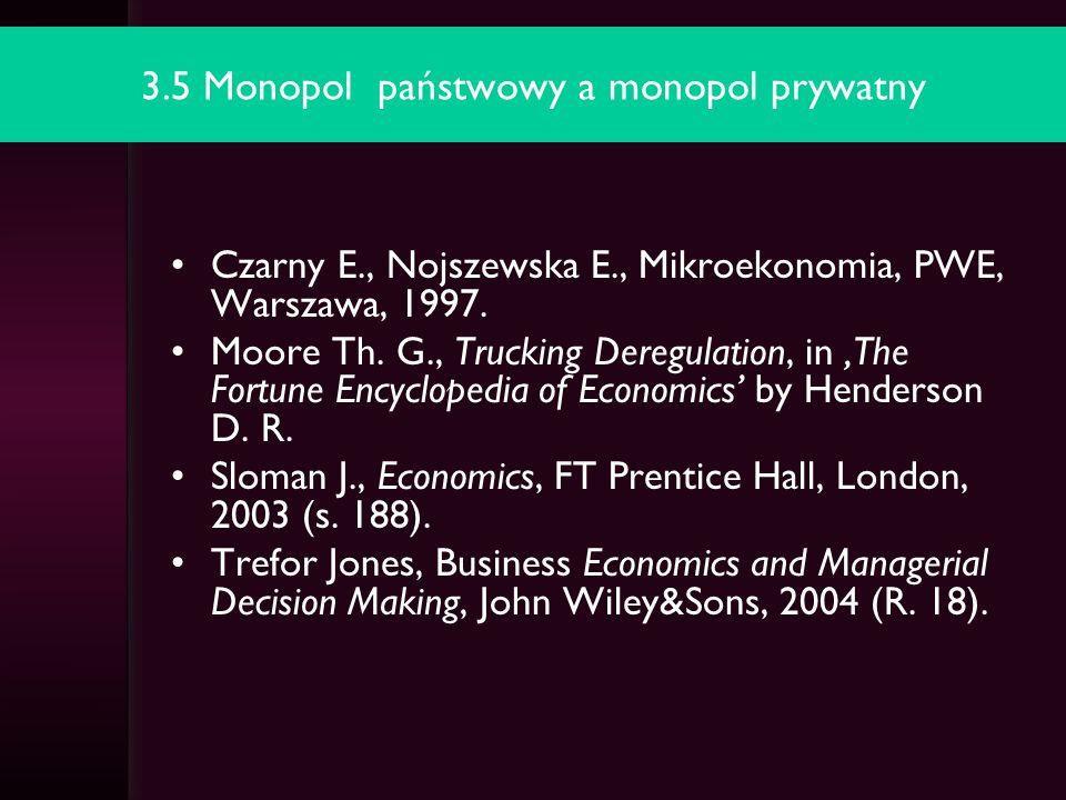 3.5 Monopol państwowy a monopol prywatny