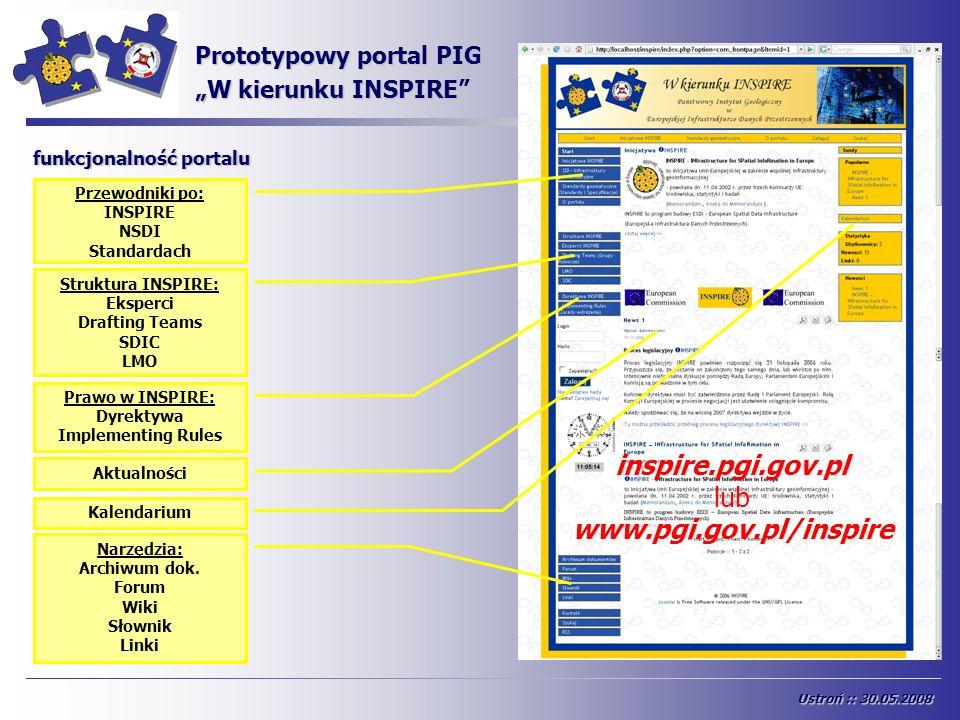 INSPIRE inspire.pgi.gov.pl lub www.pgi.gov.pl/inspire