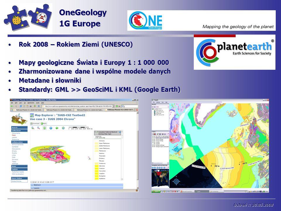 OneGeology 1G Europe INSPIRE Rok 2008 – Rokiem Ziemi (UNESCO)