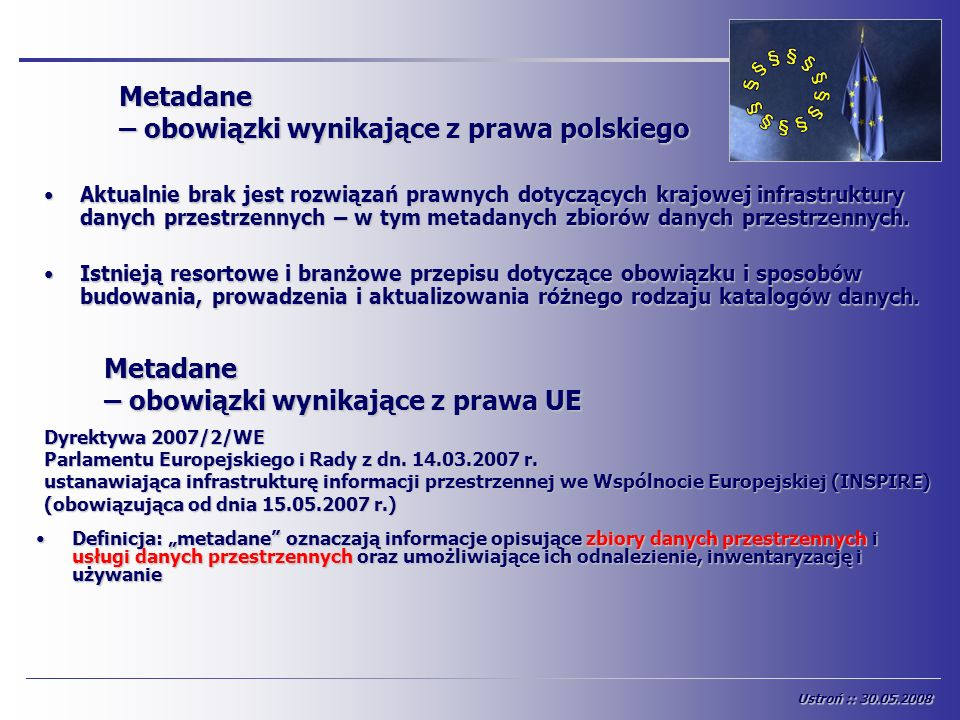Metadane – obowiązki wynikające z prawa polskiego
