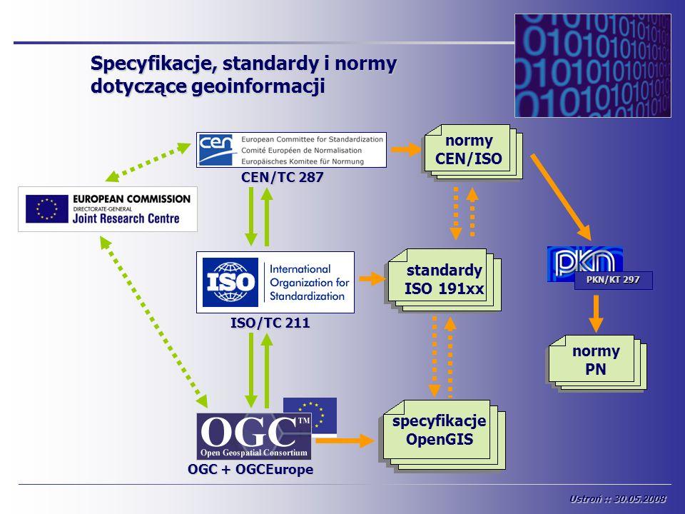 Specyfikacje, standardy i normy dotyczące geoinformacji