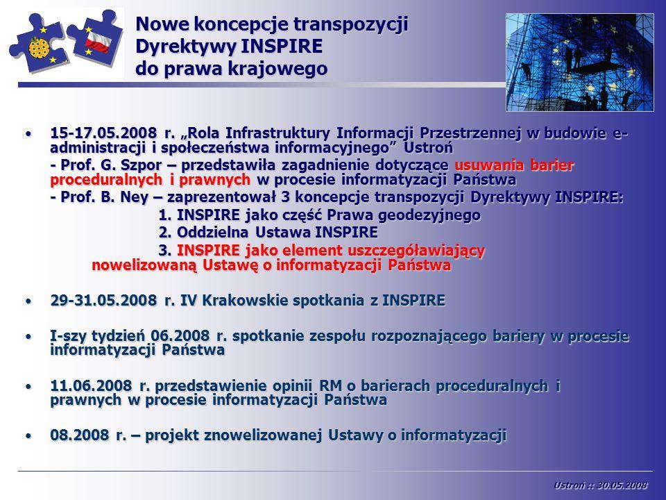 Nowe koncepcje transpozycji Dyrektywy INSPIRE do prawa krajowego