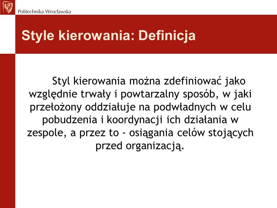 Style kierowania: Definicja