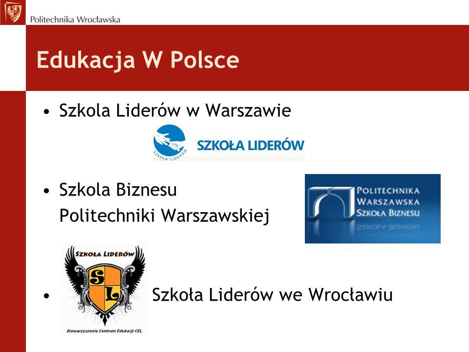 Edukacja W Polsce Szkola Liderów w Warszawie Szkola Biznesu