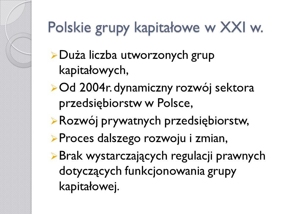 Polskie grupy kapitałowe w XXI w.