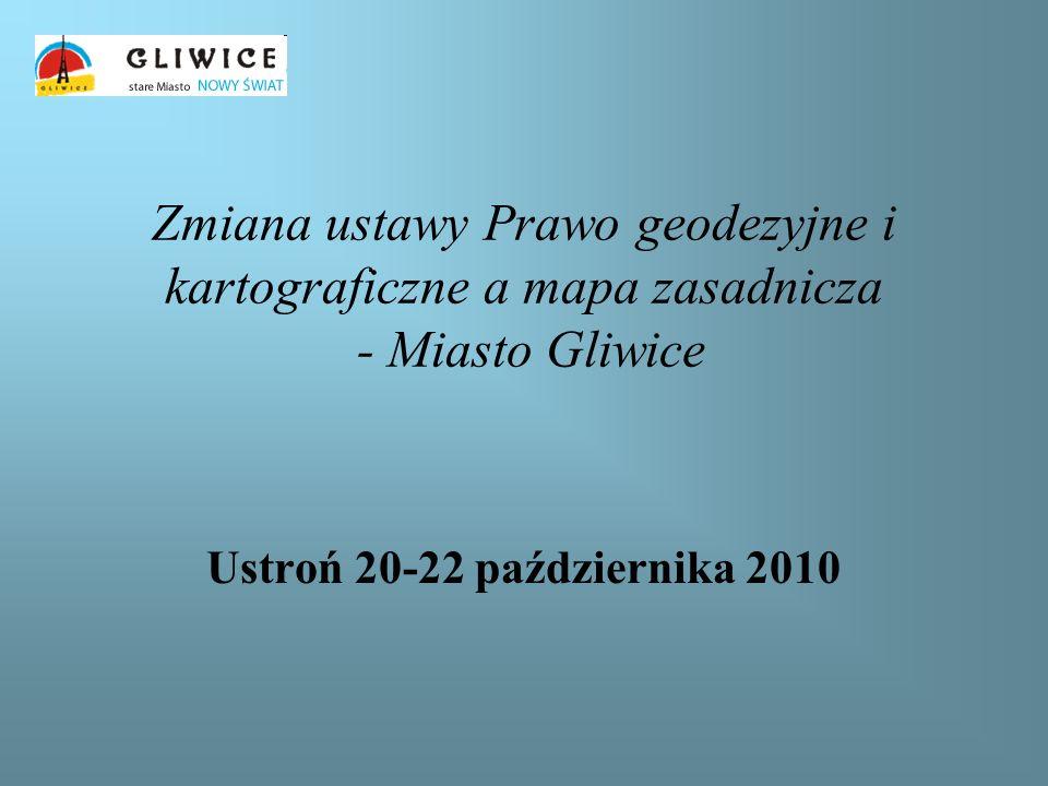 Zmiana ustawy Prawo geodezyjne i kartograficzne a mapa zasadnicza - Miasto Gliwice