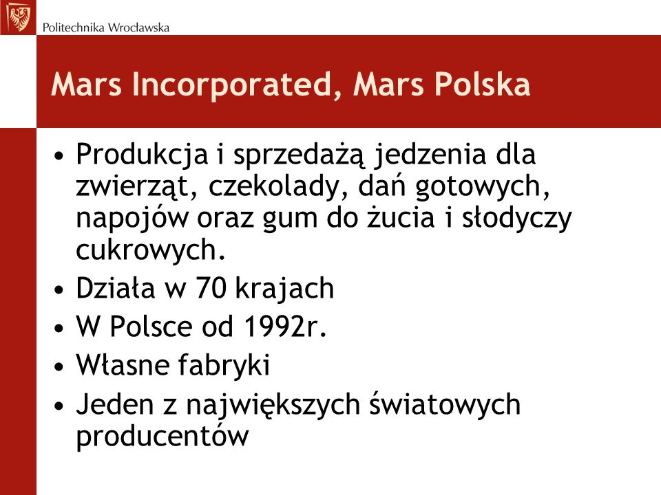 Mars Incorporated, Mars Polska