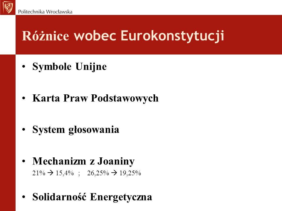 Różnice wobec Eurokonstytucji