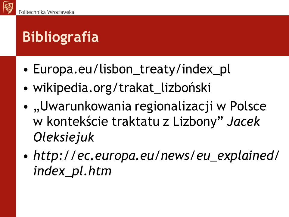 Bibliografia Europa.eu/lisbon_treaty/index_pl