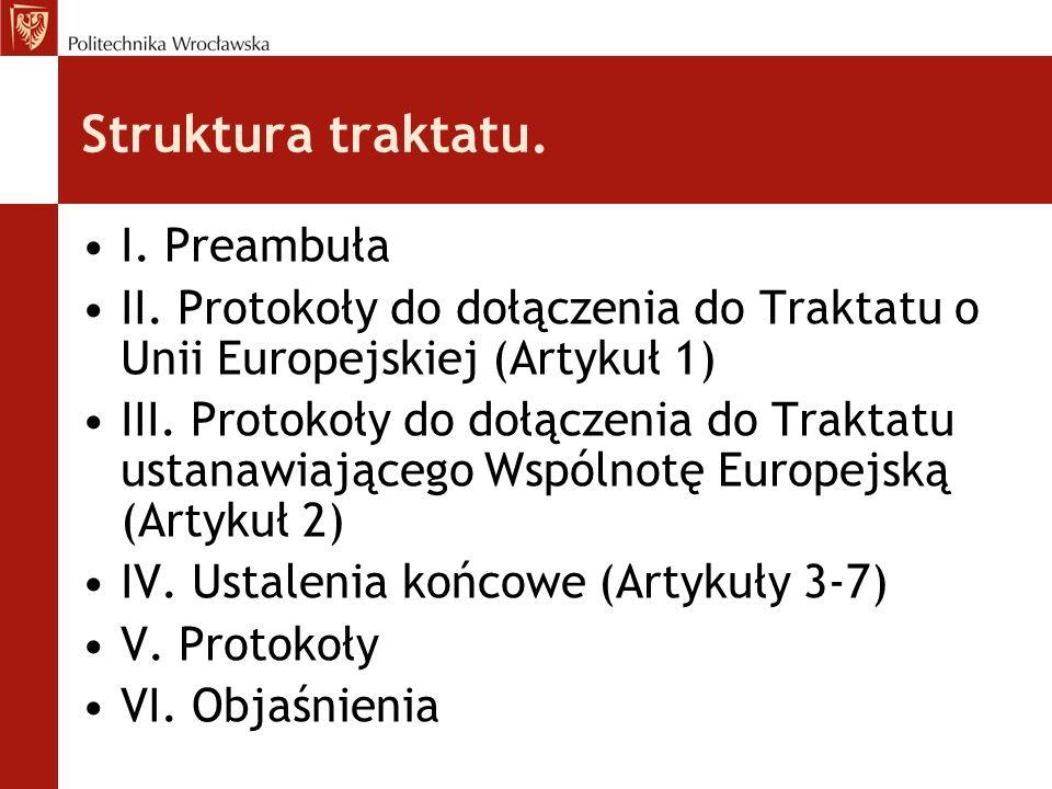 Struktura traktatu. I. Preambuła