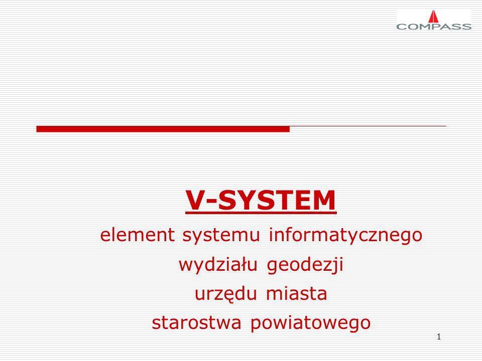 V-SYSTEM element systemu informatycznego wydziału geodezji