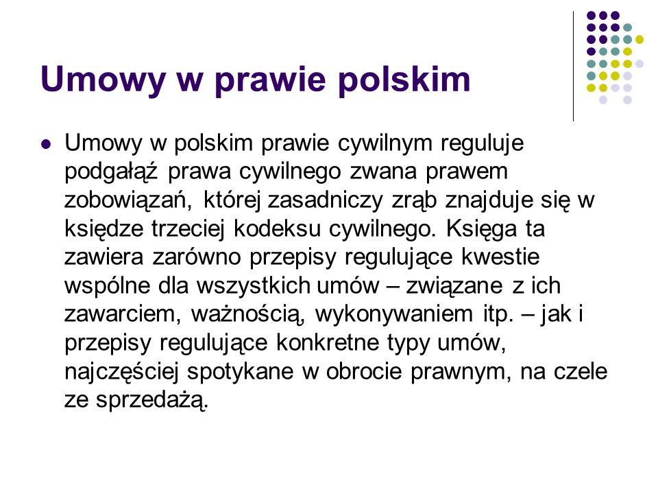 Umowy w prawie polskim