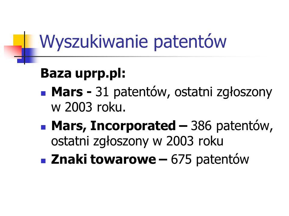 Wyszukiwanie patentów
