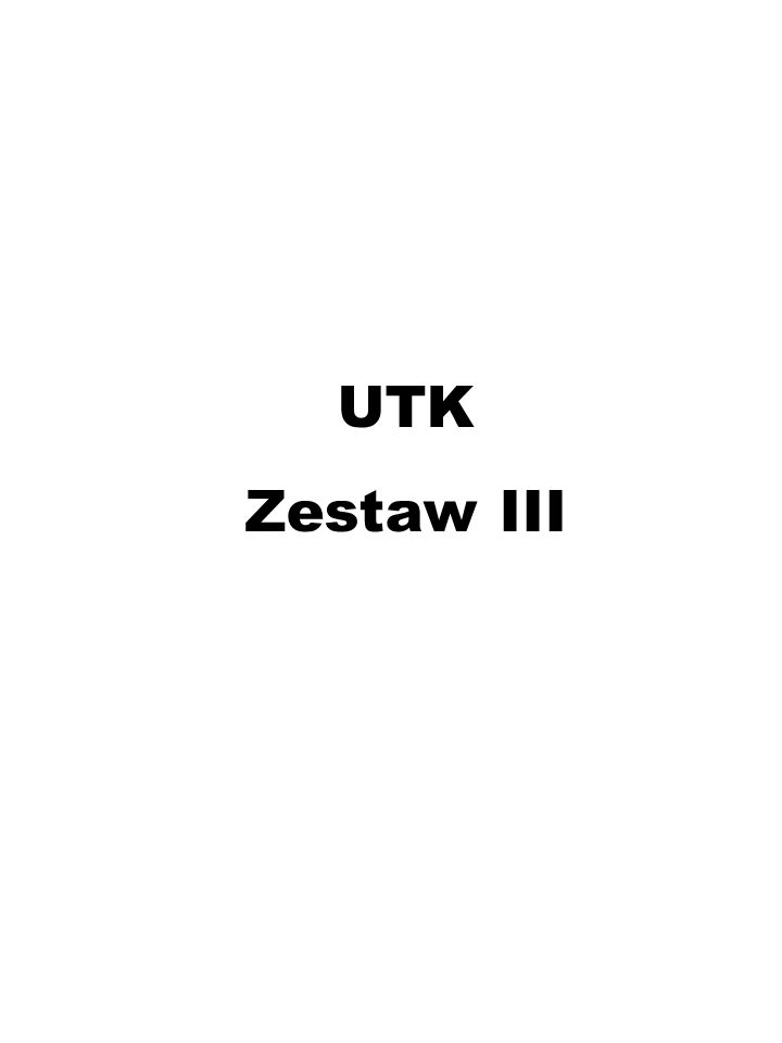 UTK Zestaw III