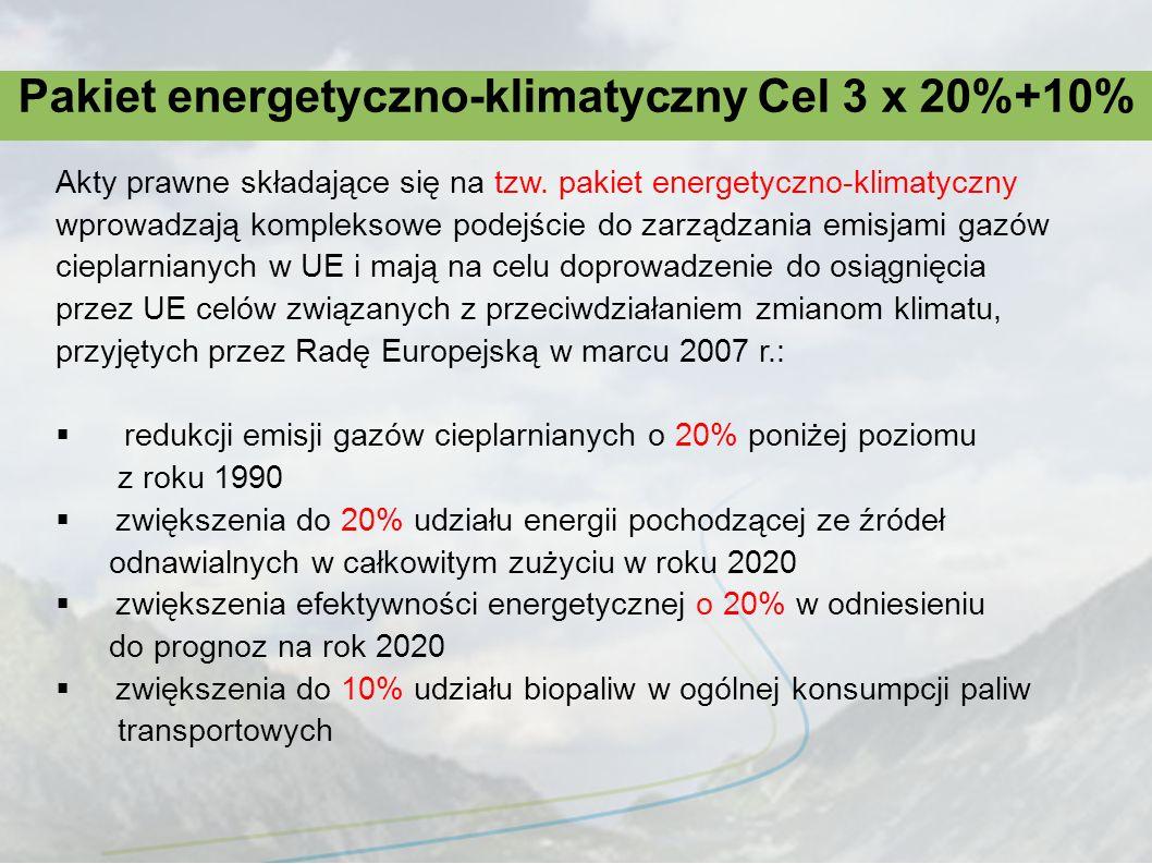 Pakiet energetyczno-klimatyczny Cel 3 x 20%+10%