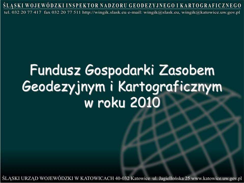 Fundusz Gospodarki Zasobem Geodezyjnym i Kartograficznym w roku 2010