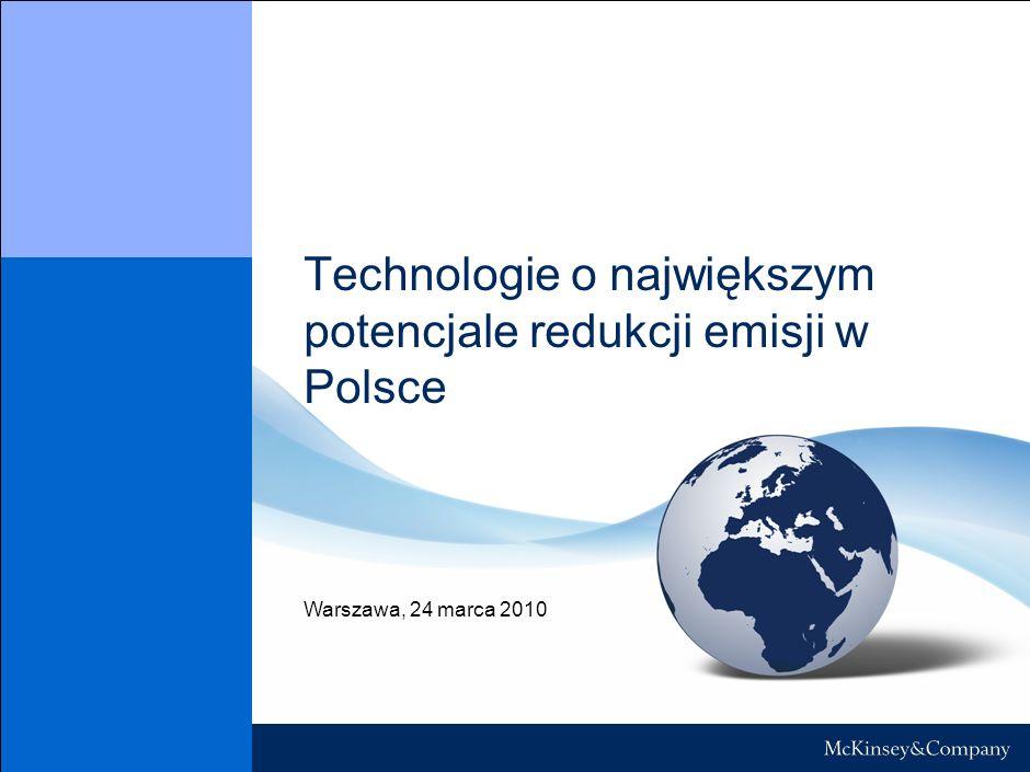 Technologie o największym potencjale redukcji emisji w Polsce