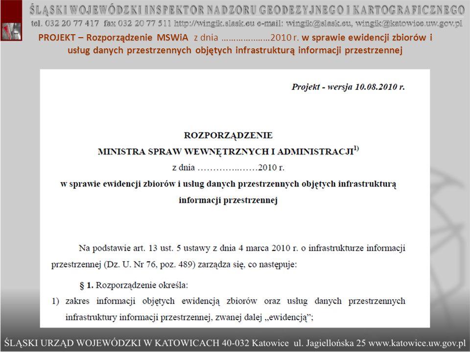 PROJEKT – Rozporządzenie MSWiA z dnia …………. ……2010 r