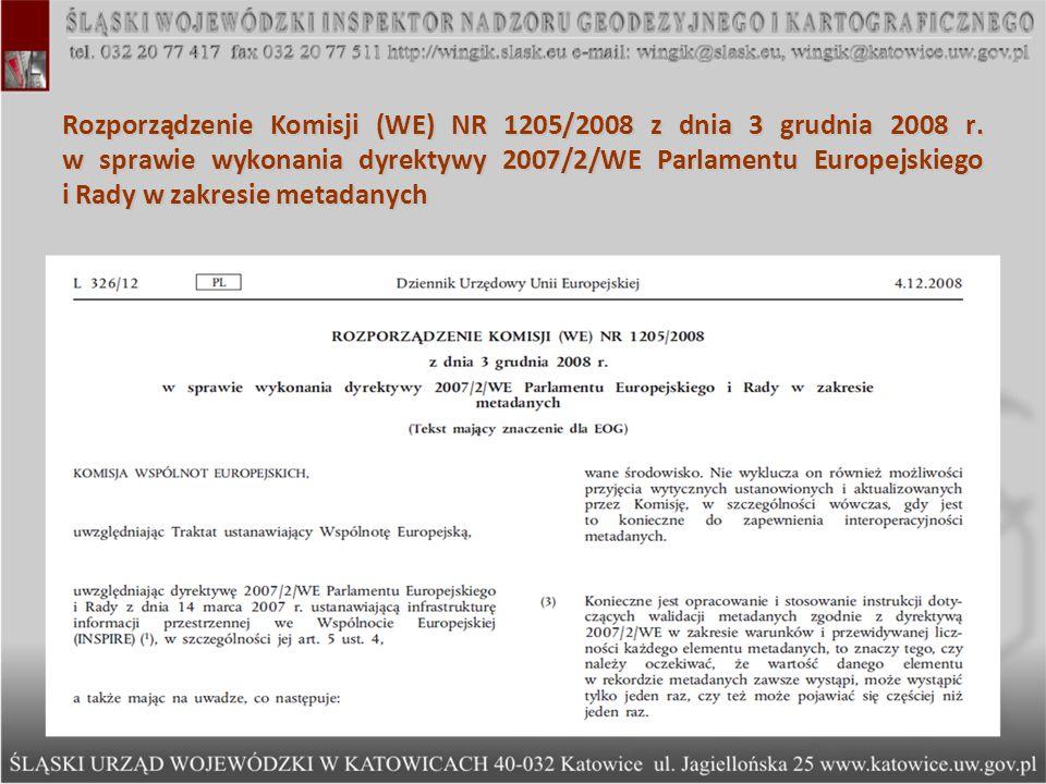 Rozporządzenie Komisji (WE) NR 1205/2008 z dnia 3 grudnia 2008 r