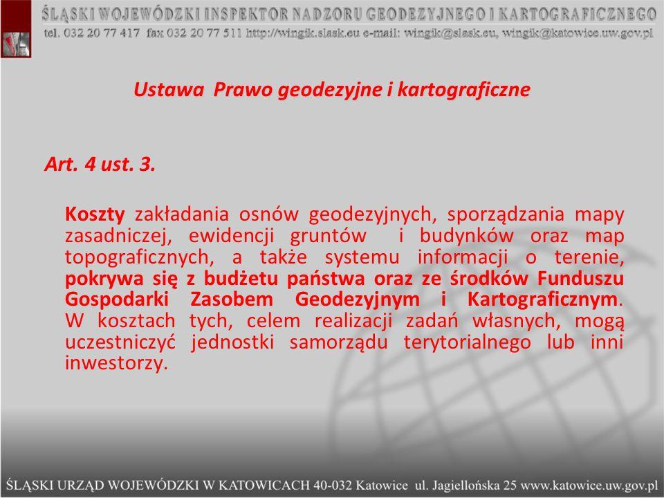 Ustawa Prawo geodezyjne i kartograficzne
