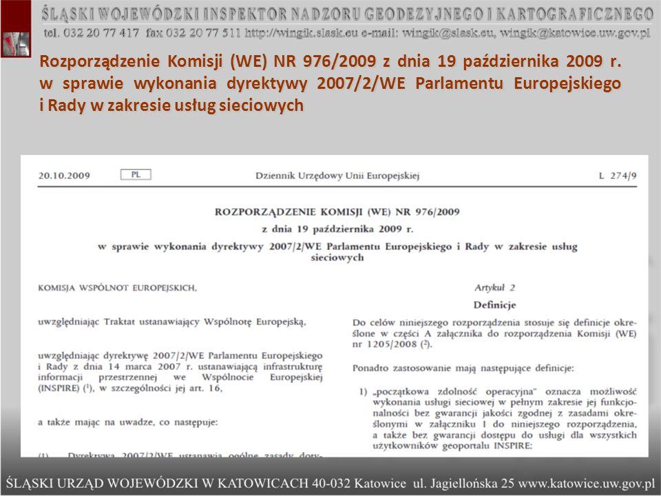 Rozporządzenie Komisji (WE) NR 976/2009 z dnia 19 października 2009 r