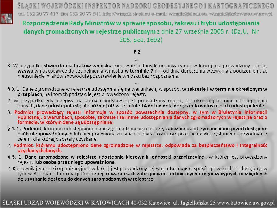 Rozporządzenie Rady Ministrów w sprawie sposobu, zakresu i trybu udostępniania danych gromadzonych w rejestrze publicznym z dnia 27 września 2005 r. (Dz.U. Nr 205, poz. 1692)