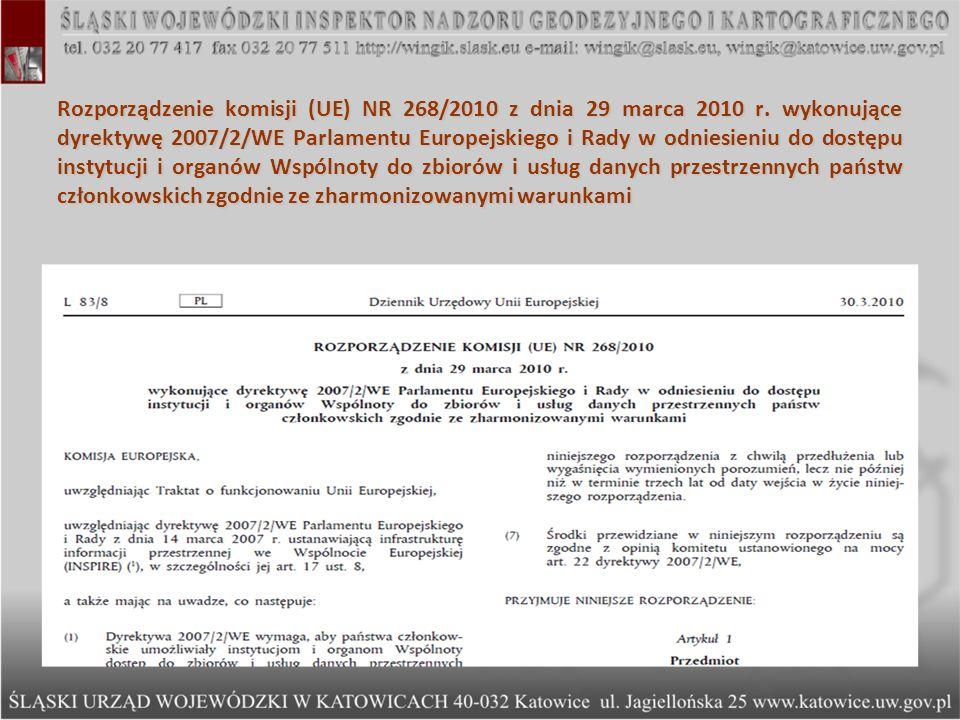 Rozporządzenie komisji (UE) NR 268/2010 z dnia 29 marca 2010 r