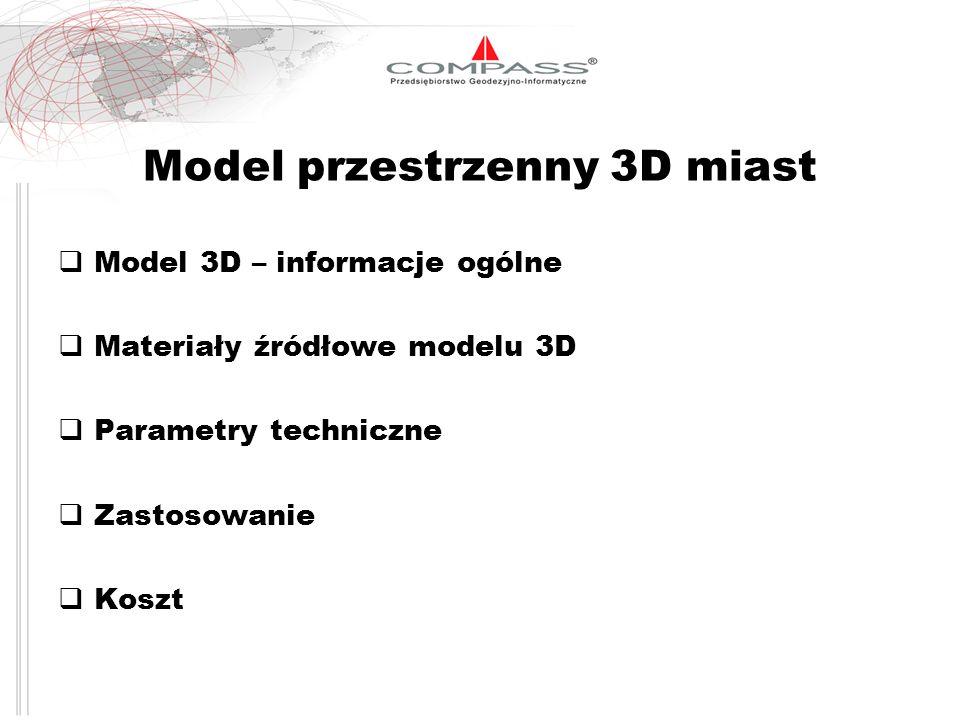 Model przestrzenny 3D miast
