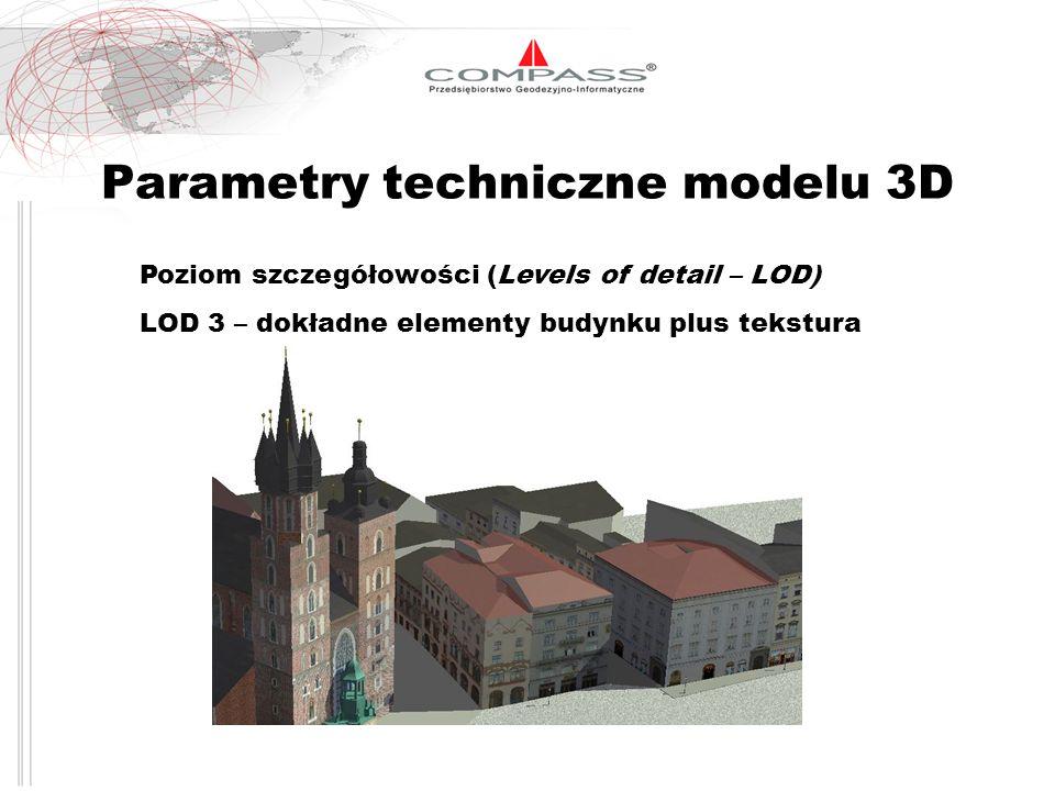 Parametry techniczne modelu 3D