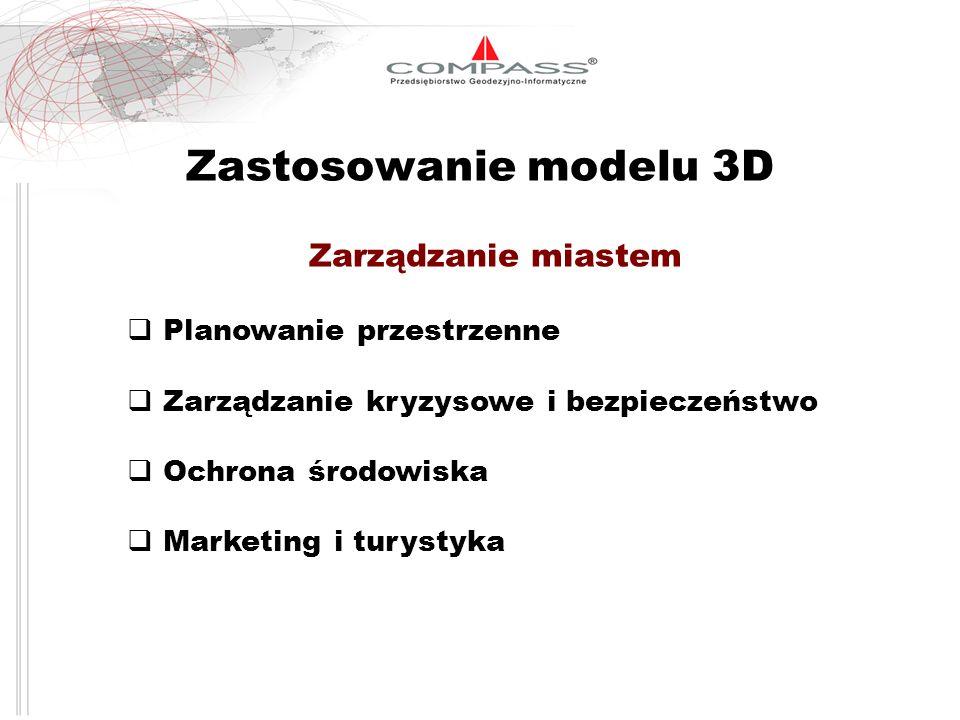 Zastosowanie modelu 3D Zarządzanie miastem Planowanie przestrzenne
