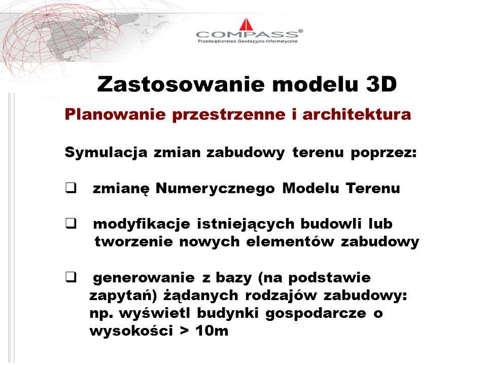 Zastosowanie modelu 3D Planowanie przestrzenne i architektura
