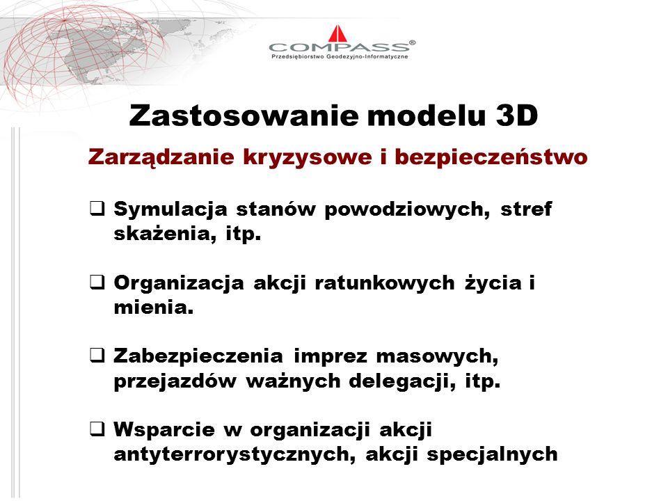 Zastosowanie modelu 3D Zarządzanie kryzysowe i bezpieczeństwo