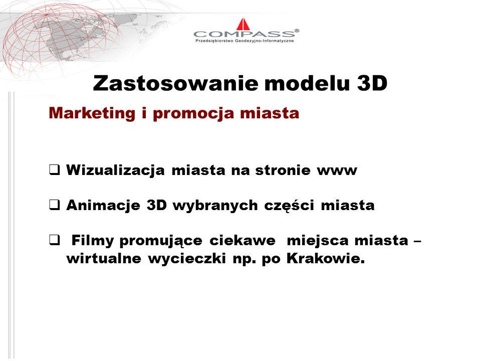 Zastosowanie modelu 3D Marketing i promocja miasta