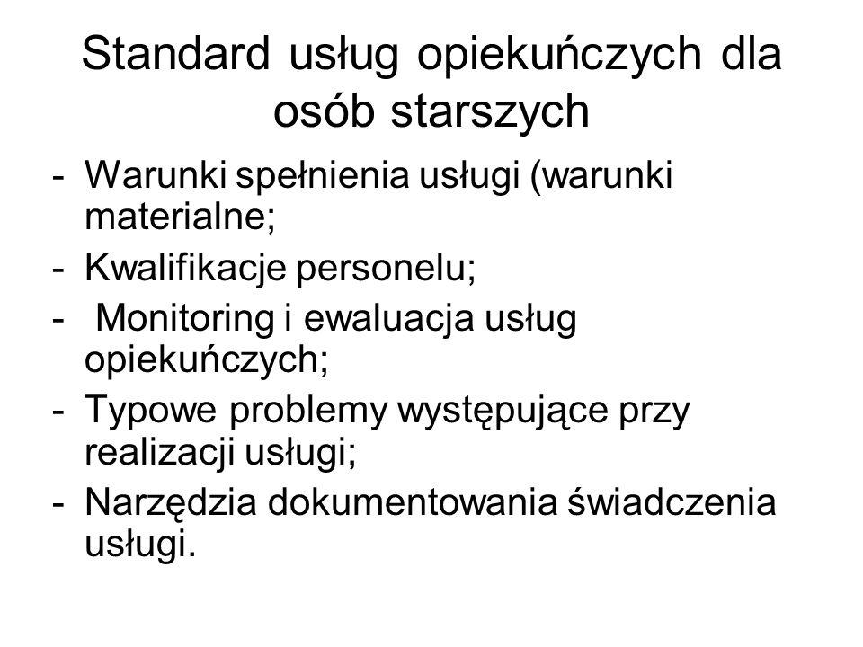 Standard usług opiekuńczych dla osób starszych