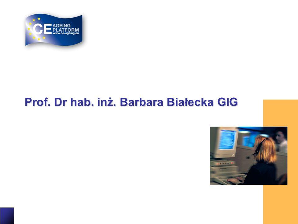 Prof. Dr hab. inż. Barbara Białecka GIG