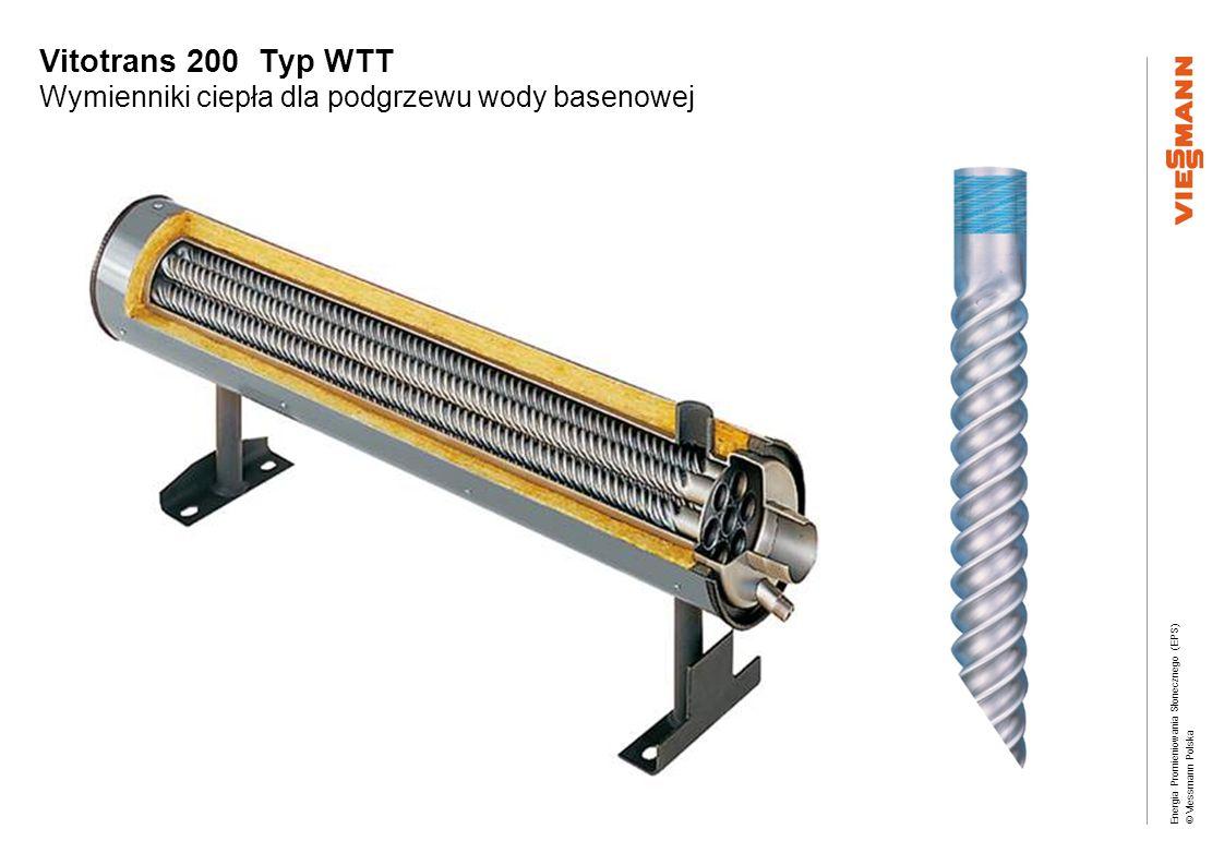 Vitotrans 200 Typ WTT Wymienniki ciepła dla podgrzewu wody basenowej