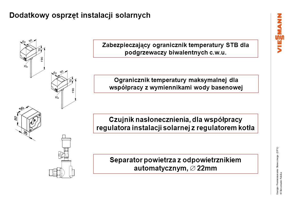 Dodatkowy osprzęt instalacji solarnych