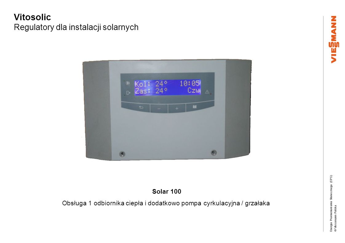Vitosolic Regulatory dla instalacji solarnych