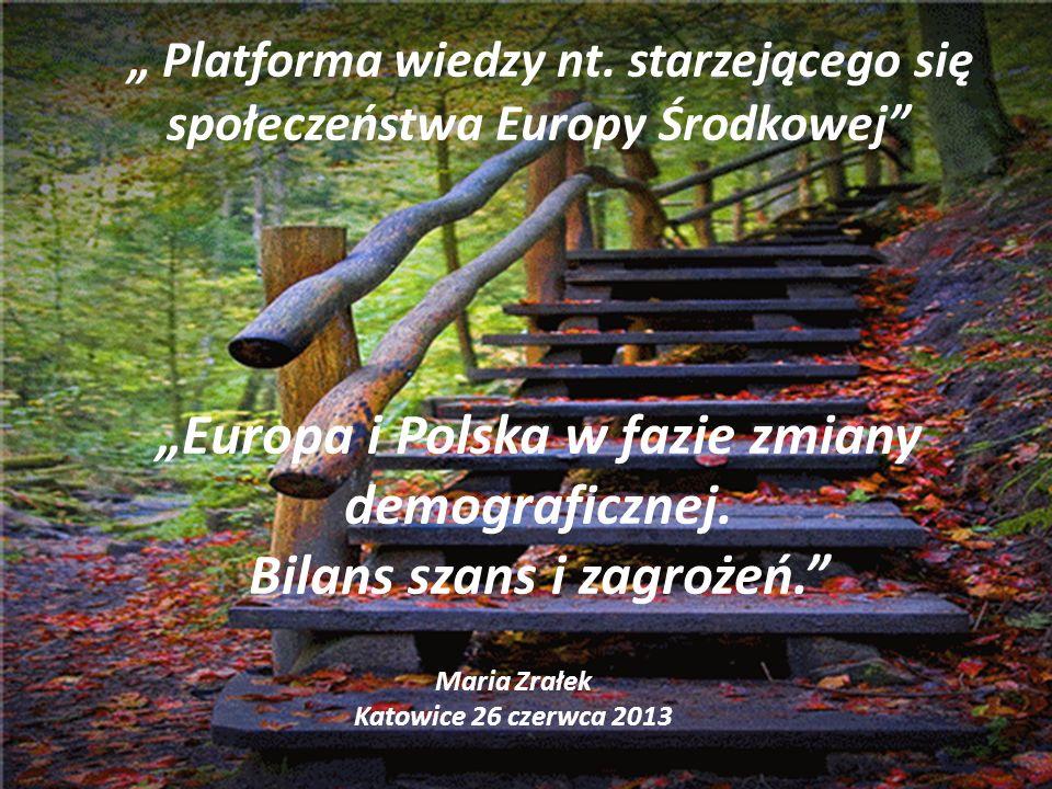 """""""Europa i Polska w fazie zmiany demograficznej."""