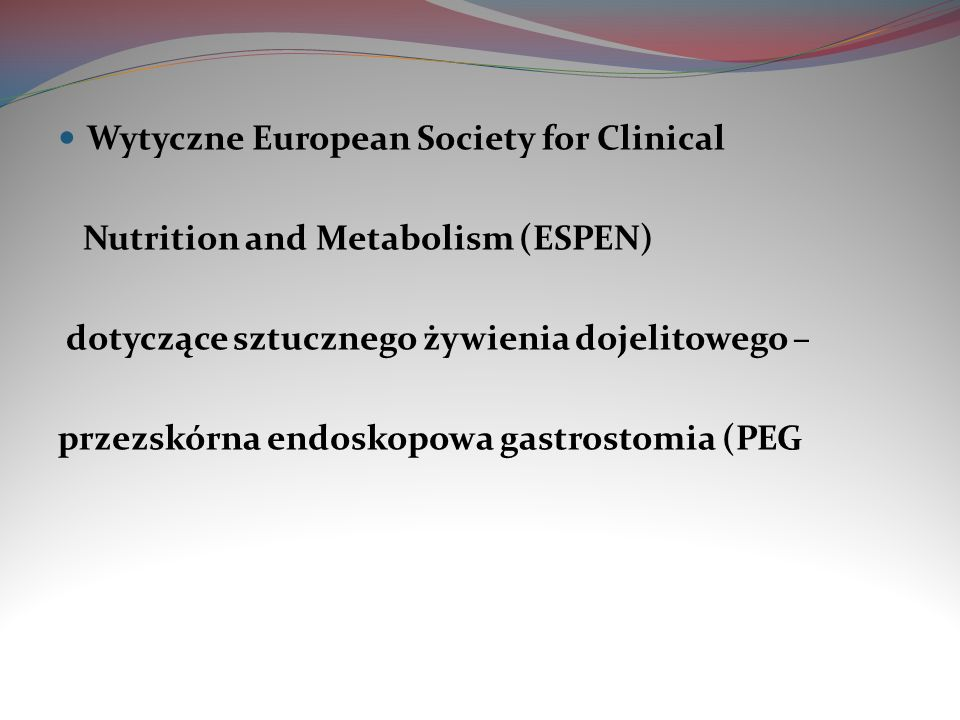 Wytyczne European Society for Clinical