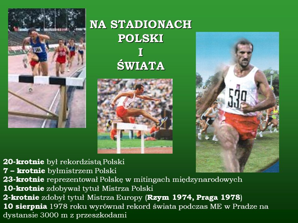NA STADIONACH POLSKI I ŚWIATA