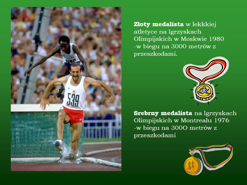 Złoty medalista w lekkkiej atletyce na Igrzyskach Olimpijskich w Moskwie 1980